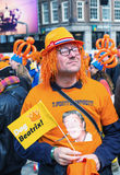 AMSTERDAM - APRIL 30: City natives and tourists celebrate Queen' Stock Images