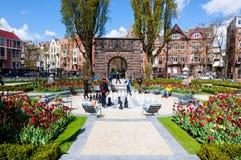 30 Amsterdam-APRIL: De Tuin in Rijksmuseum (het Museum van de Staat) op 30 April, 2015 Royalty-vrije Stock Afbeelding