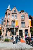 30 Amsterdam-APRIL: Diamond Museum Amsterdam, mensen is aan het museum op 30,2015 April, Nederland van plan Royalty-vrije Stock Afbeelding