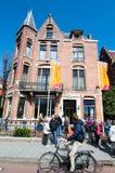 30 Amsterdam-APRIL: Diamond Museum Amsterdam, toeristen gaat het museum op 30,2015 bezoeken April Royalty-vrije Stock Afbeelding