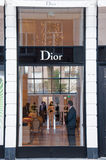 AMSTERDAM-APRIL 30: Dior store in the expensive and posh P.C.Hooftstraat shopping street on April 30,2015 in Amsterdam. Stock Image