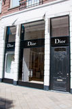 AMSTERDAM-APRIL 30: Dior store in the P.C.Hooftstraat shopping street on April 30,2015 in Amsterdam. Stock Image