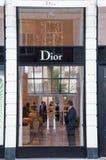 30 Amsterdam-APRIL: Dioropslag in duur en elegant P C Hooftstraat het winkelen straat op 30,2015 April in Amsterdam Stock Afbeelding