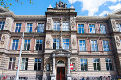 30 Amsterdam-APRIL: Het Barlaeus-Gymnasium Amsterdam, Nederland Royalty-vrije Stock Foto