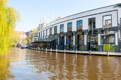 AMSTERDAM-APRIL 30: Holland Casino during the midday from the Singelgrachtkering Canal on April 30,2015, the Netherlands. Stock Photography