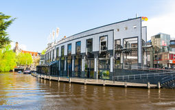 AMSTERDAM-APRIL 30: Holland Casino during the midday from the Singelgrachtkering Canal on April 30,2015, the Netherlands. Royalty Free Stock Images