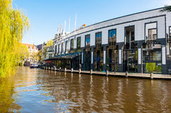 30 Amsterdam-APRIL: Holland Casino zoals die van het Singelgrachtkering-Kanaal op 30,2015 April, Nederland wordt gezien Stock Afbeelding