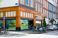 AMSTERDAM-APRIL 30: Louis Vuitton store on the P.C.Hooftstraat shopping street on April 30,2015 in Amsterdam. Stock Photography