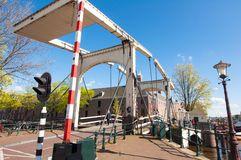 Amsterdam-April 30: Magere Brug also known as Skinny Bridge on April 30, 2015, Netherlands. Royalty Free Stock Image