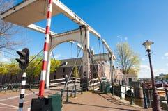 Amsterdam-April 30: Magere Brug (Skinny Bridge) on April 30, 2015, Netherlands. Royalty Free Stock Photo