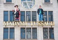 30 Amsterdam-APRIL: Mevrouw Tussauds-museum op Damvierkant op 30,2015 April in Amsterdam Stock Foto's