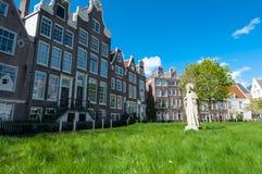 30 Amsterdam-april: Middeleeuwse Begijnhof in het hart van de stad van Amsterdam op 30,2015 April Royalty-vrije Stock Afbeelding