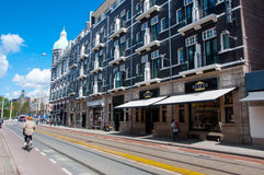 AMSTERDAM-APRIL 30: The P.C.Hooftstraat fashion street with the brands of luxury clothes on April 30 ,2015. Stock Photo