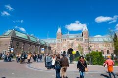 27 Amsterdam-APRIL: Rijksmuseum tijdens de Dag van de Koning op 27 April, 2015, Nederland Stock Foto