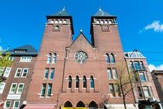 30 Amsterdam-APRIL: Vooraanzicht van Amsterdam Fatih Mosque op 30,2015 April, Nederland Stock Fotografie