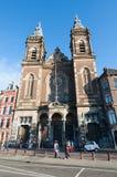 27 Amsterdam-APRIL: Voorgevel van de Kerk van Sinterklaas in het district van het stadscentrum van Amsterdam op 27,2015 April Royalty-vrije Stock Afbeelding