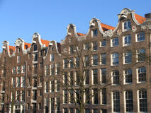 Amsterdam architecture. Amsterdam canal houses, Holland Stock Image