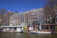 Amsterdam architecture from boat Royalty Free Stock Photography
