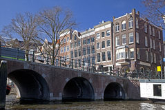 Amsterdam architecture from boat Royalty Free Stock Photo