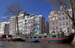 Amsterdam architecture from boat royalty free stock images