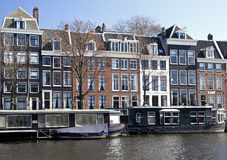Houseboat in Amsterdam Stock Photo