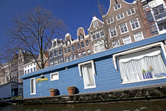 Houseboat in Amsterdam Royalty Free Stock Photography