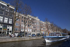 Amsterdam architecture from boat Stock Images