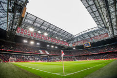 The Amsterdam ArenA football pitch panorama overview inside royalty free stock images