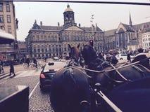 Amsterdam atmosfär fotografering för bildbyråer