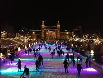 Amsterdam auf Eis lizenzfreies stockbild