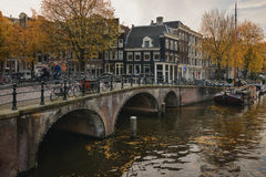 Amsterdam and autumn Royalty Free Stock Image