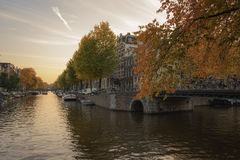 Amsterdam and autumn Stock Photo