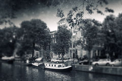 Amsterdam autumn night. Elements of this image furnished by NASA Royalty Free Stock Photography