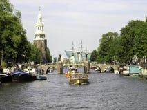 Amsterdam aveny Fotografering för Bildbyråer