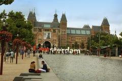 Amsterdam-Avgust 17 2015: El Rijksmuseum es el más importante Fotografía de archivo