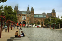 AMSTERDAM-Avgust 17 2015: The Rijksmuseum is the most important Stock Photography