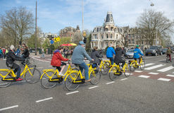 Amsterdam bacycles Stock Photo