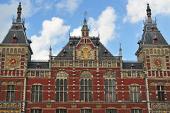 Amsterdam-Bahnstation Stockfoto
