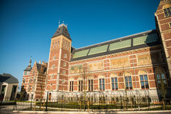 Amsterdam. Beautiful exterior architecture of Central Station Stock Photo
