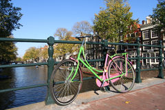 Amsterdam Bicycle Stock Photo