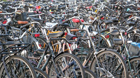 Free Amsterdam Bicycles. Stock Image - 55796771
