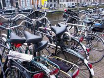Amsterdam bicycles Stock Photo