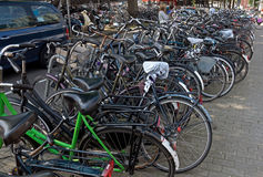 Amsterdam - Bicycles Royalty Free Stock Image