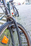 Amsterdam bicycles. Bicycles parked in the Amsterdam streets Royalty Free Stock Image