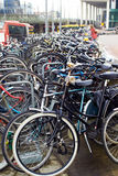 Amsterdam, bicycles parking near Central Station Stock Image