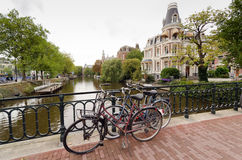 Amsterdam. Bicycles in Amsterdam. Amsterdam is worlds most bicycle friendly cities Royalty Free Stock Photos