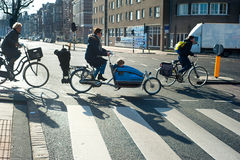 Amsterdam bicyclists Royalty Free Stock Image