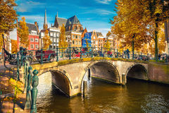 Amsterdam bij de herfst Royalty-vrije Stock Foto