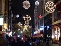Amsterdam bij nacht Royalty-vrije Stock Fotografie