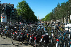 Amsterdam bike city Royalty Free Stock Photos